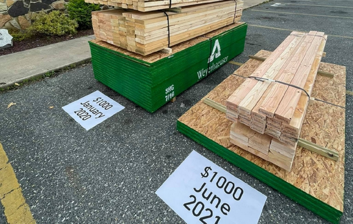 Vous aviez des doutes sur l'augmentation du prix du bois d'oeuvre? Cette photo vous laissera bouche bée!