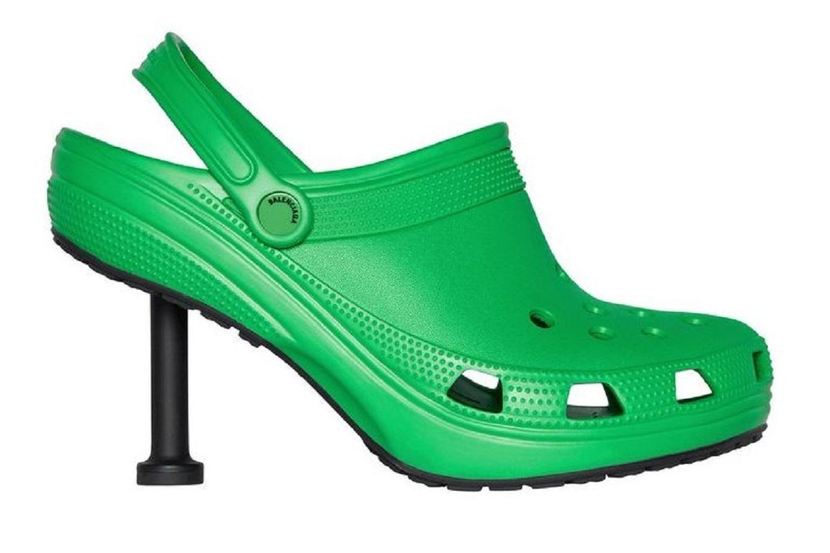La marque de luxe Balenciaga lance des Crocs à talons hauts